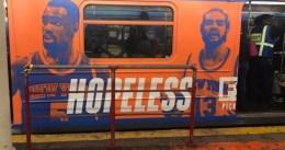 El metro de NY: ¿imagen de la desesperanza de los Knicks?
