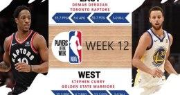 Stephen Curry y DeMar DeRozan, Jugadores de la Semana