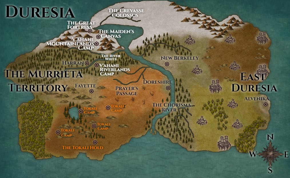 The Civilands Series Map - From Epic Fantasy Series by N B