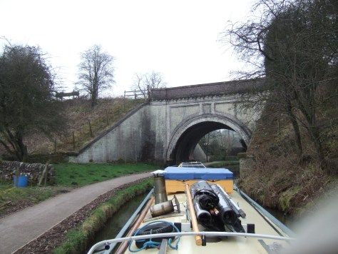 Hazlehurst aqueduct that carries the Leek arm above.