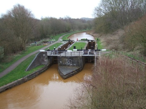 We were met by double locks. These were designed to ease the flow of canal traffic back and forth. Either can be used.