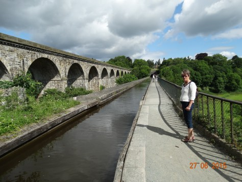Chirk aqueduct 70' high spanning the River Ceiriog