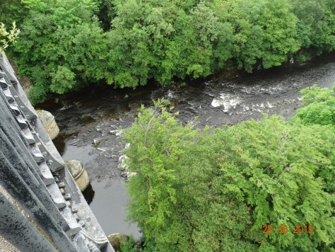 The River Dee from the aqueduct