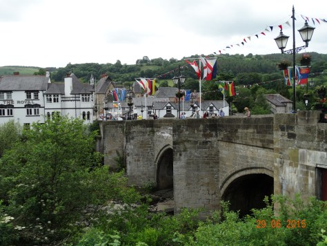 Llangollen bridge that spans the River Dee. Used to be a toll bridge many years ago.