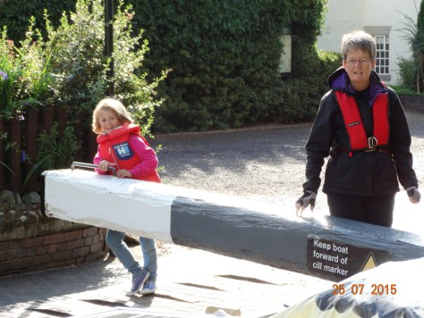 Charlie helping through Audlem locks