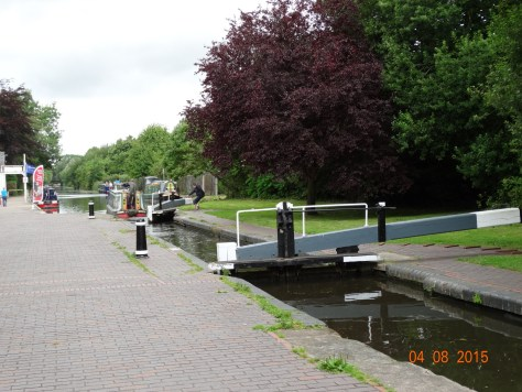 The end of the Shroppie at the junction with the Staffs and Worcester canal. A small stop lock to go through first.