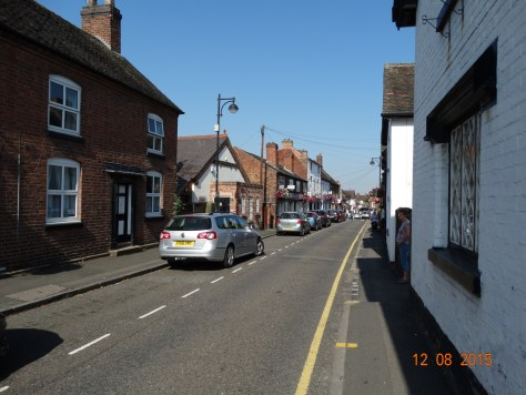 The top of Penkridge village