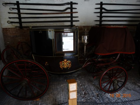 One of the many carriages on display. This one attended the Queen's coronation.