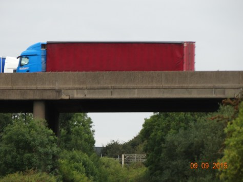 Travelling under the M6 motorway