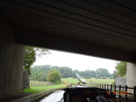 Under the M40. The liftbridges so far have been chained up, as seen in the distance.