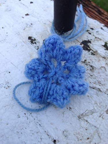 crocheted item on lock. They come in many colours and designs