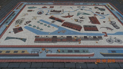 Mosaic by a local artist depicting the basin and it's history. Luckily not vandalised with graffiti
