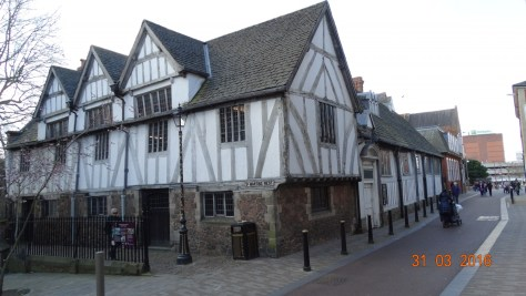 The Guildhall. It dates back to medieval times, and would have been a building of importance in Richard's time. The great hall was built in 1390, and would have been used by influential businessmen. In 1563 it became Leicester's town hall. It escaped demolition in 1876, and in 1926 was completely restored.