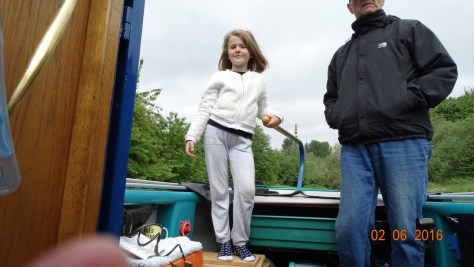 Forgot to mention that Grand-daughter Charlie took the tiller that morning