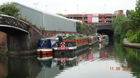 The other boats gradually arriving and breasted up at Wolverhampton.