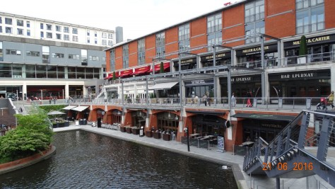 The Mailbox, also full of upmarket restaurants and shops, and home to the local BBC