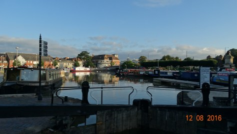 looking back into the basin from inside the lock