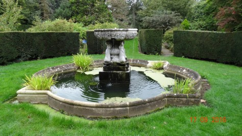 The Fountain Gardens designed by Rose Berkeley and Ellen Willmott. 36 separate beds surround the central stone fountain
