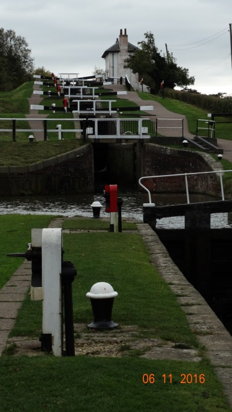 looking up at the first 5 locks