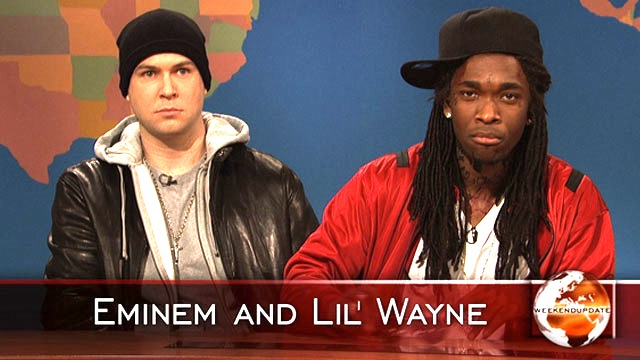 Watch Weekend Update Lil Wayne And Eminem On Their