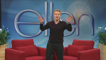 Ellen's Oscar Pranks and Olympic recap with guest Johnny Weir.