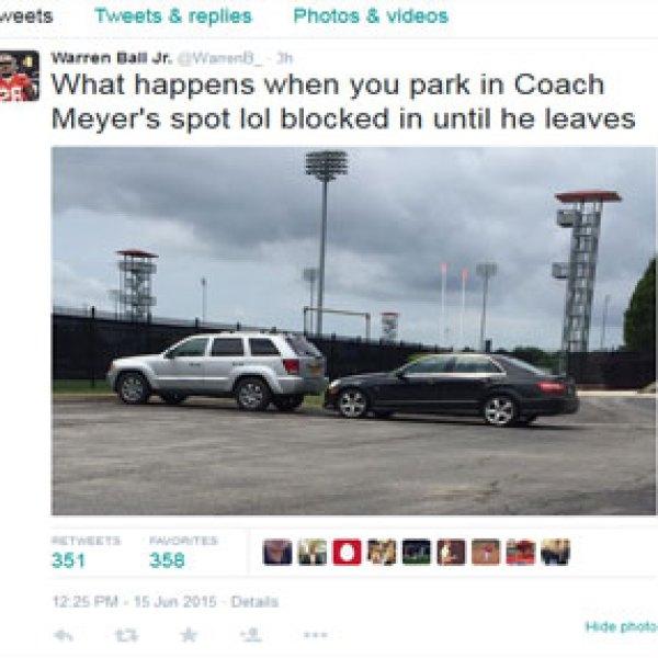 Don't Park In Coach Meyer's Parking Spot (Image 1)_9413