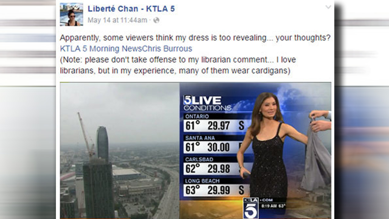 Weather anchor's dress sparks social media firestorm