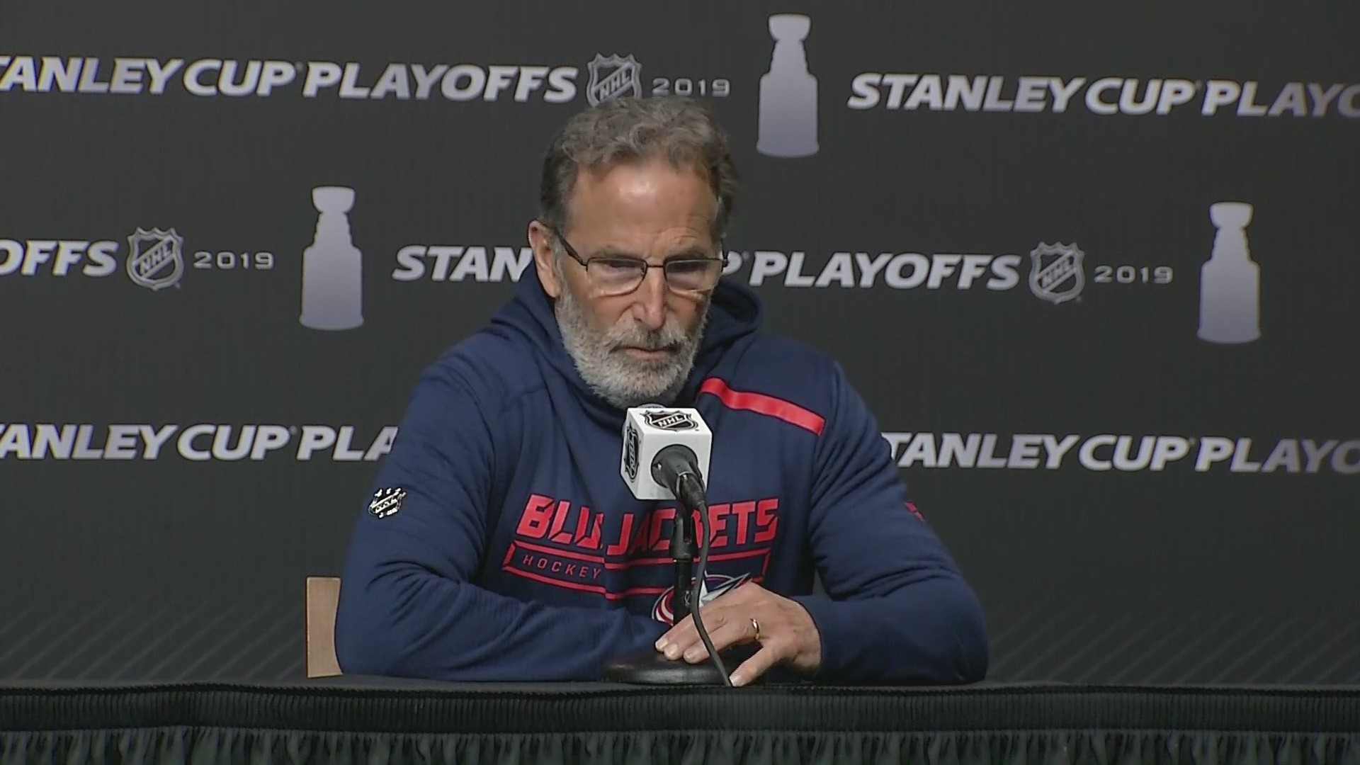 VIDEO: Columbus Blue Jackets head coach John Tortorella speaks before Round 2, Game 2 against Bruins