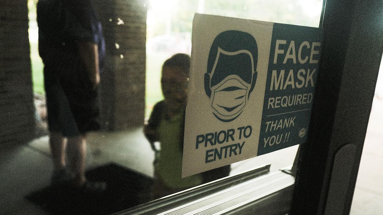 elementary school covid mask sign