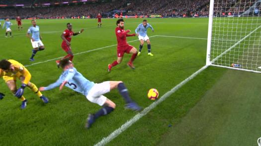 Liverpool centimeters away from taking lead over Man City ...