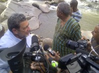 Prime Minister of St Vincent and the Grenadines Dr. Ralph Gonsalves and and Prime Minister of Antigua and Barbuda Baldwin Spencer toured the affected areas on the windward side of the island on Saturday December 28th 2013