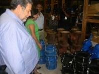 Ceremonial handing over of supplies