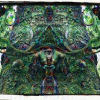 Elemental Forest deep dream