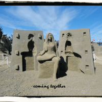 Sand Sculpting Canada 150 in Parksville