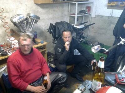 Hartmut und Leshko bei Piwo