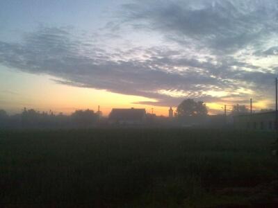 Sonnenaufgang in Schlesien, mehr geht nicht