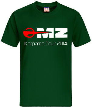 Karpaten Tour 2014 T-Shirt vorn