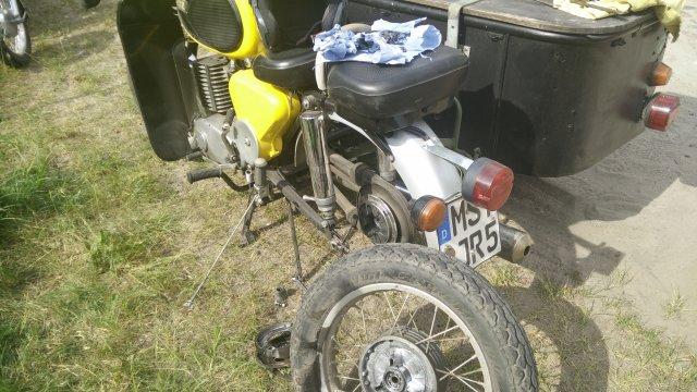 MZ TS 250 Maschine mit Radlagerschaden