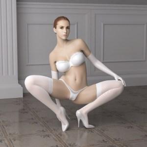 Virtuele bondage (real doll)