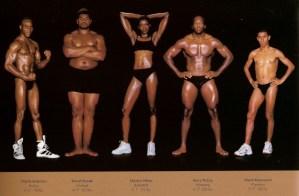 Het lichaam van een atleet