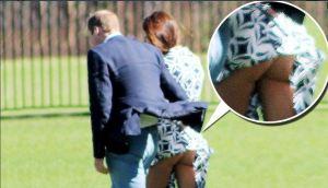 Kate Middleton laat per abuis haar billen zien