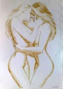 womenkissingdrawing