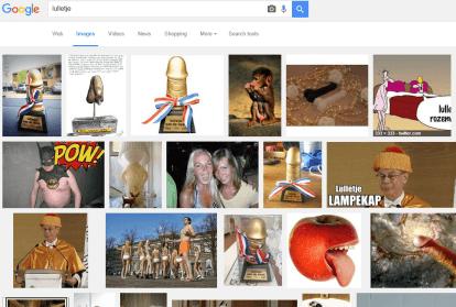 Google op lulletje