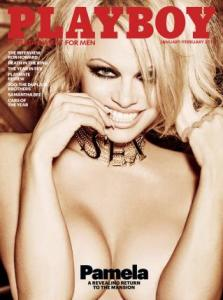 Pamela Anderson op de laatste Playboy met naakt