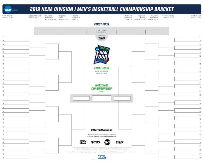 2019 NCAA tournament bracket