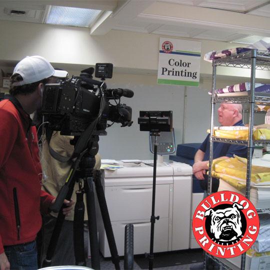 Watch Bulldog Printing on Fox8 News | Bulldog Printing