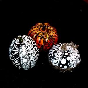 Zentangle pumpkins