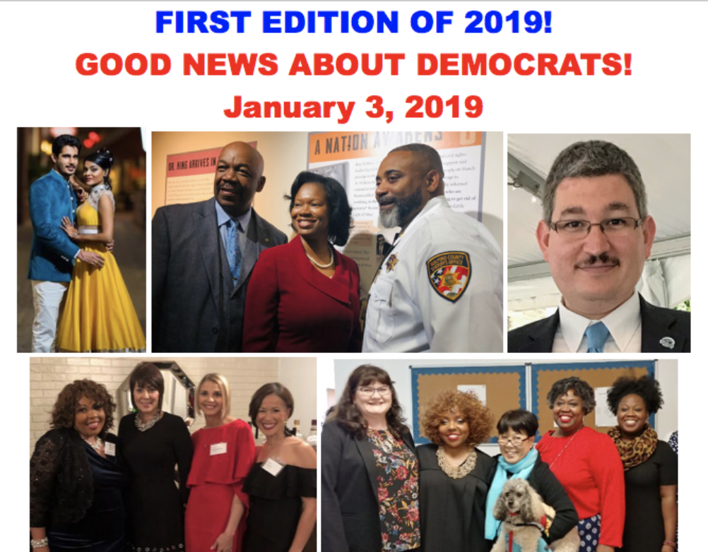 Good News About Democrats – January 3rd, 2019