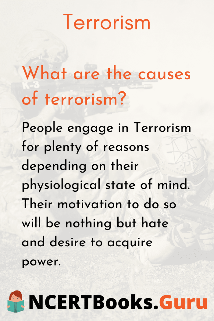 What are the Causes of Terrorism