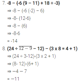 Selina Concise Mathematics Class 7 Icse Solutions Chapter 1 Integers Ncert Books